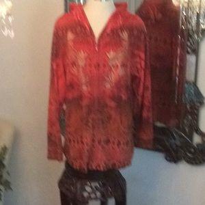 2X Roz Ali very colorful sweatshirt
